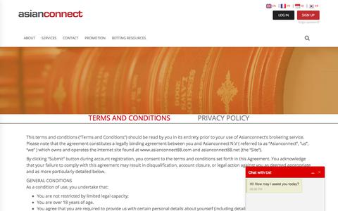Screenshot of Terms Page asianconnect88.com - Terms and Conditions | Asianconnect Betting Brokerage - captured Sept. 7, 2017