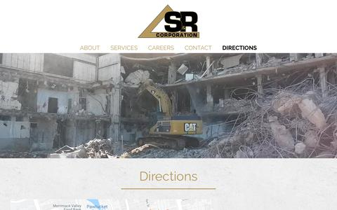 Screenshot of Maps & Directions Page sandrcorp.com - Directions - S&R Corporation - captured Oct. 1, 2018