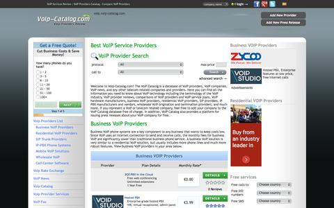 Screenshot of Home Page voip-catalog.com - Best VoIP Services Reviews: Compare VoIP Providers - captured Sept. 24, 2018