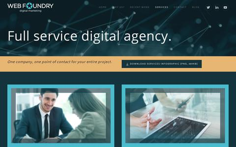Screenshot of Services Page web-foundry.co.uk - Digital Marketing and Web Development Services | Web Foundry - captured June 19, 2017