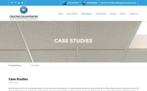 Screenshot of Case Studies Page creatingcalminteriors.com - Case Studies - Creatingcalminteriors - captured Feb. 1, 2016