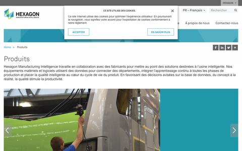Screenshot of Products Page hexagonmi.com - Produits | Hexagon Manufacturing Intelligence - captured Oct. 21, 2018