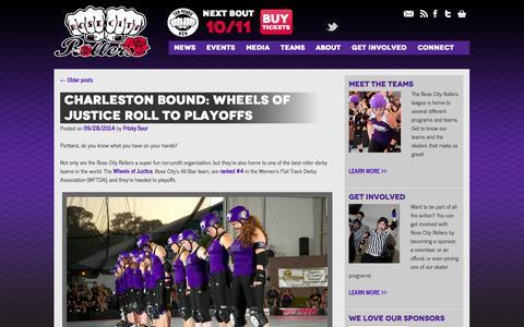 Screenshot of Press Page rosecityrollers.com - News | Rose City Rollers | Women's Flat Track Roller Derby in Portland, Oregon - captured Sept. 30, 2014