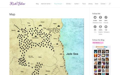 Screenshot of Maps & Directions Page writeawaybliss.com - Map | Ruth Silver - captured Oct. 7, 2014