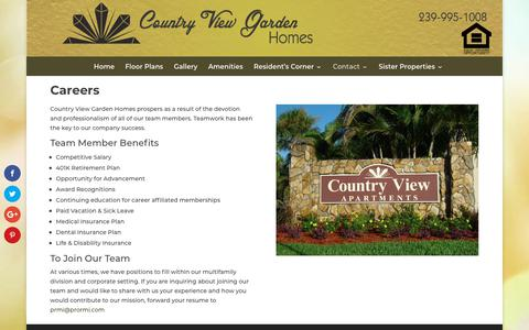 Screenshot of Jobs Page countryviewgardenhomes.com - One, Two and Three Bedroom Apartments in Ft. Myers, FL | Close to Beaches - captured Nov. 5, 2018