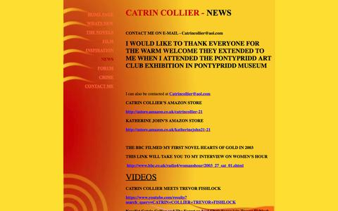 Screenshot of Press Page catrincollier.co.uk - Catrin Collier - captured May 9, 2016