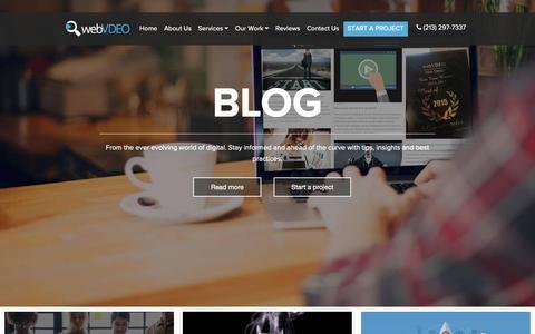 Screenshot of Blog webvdeo.com - Our Blog | WebVDEO - Web Design & Online Marketing Agency - captured Oct. 20, 2018
