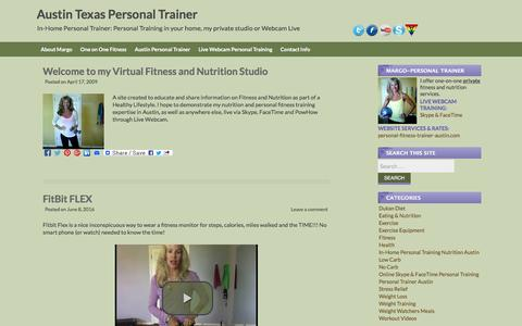 Screenshot of Blog personal-fitness-trainer-austin.com - Personal Trainers Austin Texas Westlake Lakeway TX - captured June 16, 2016