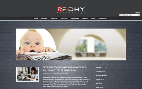 Screenshot of Press Page rfidhy.com - Huayuan RFID, The RFID manufacturer - captured Oct. 26, 2014