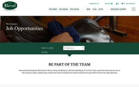 Screenshot of Jobs Page beval.com - Jobs | Beval - captured Jan. 3, 2018