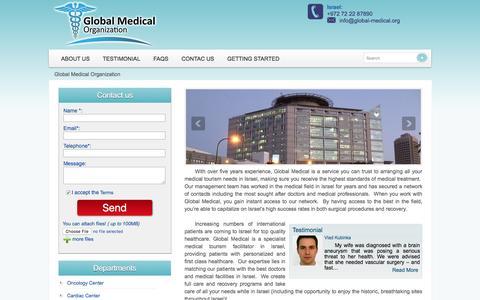Screenshot of Home Page global-medical.org - Global Medical Organization - captured March 5, 2016