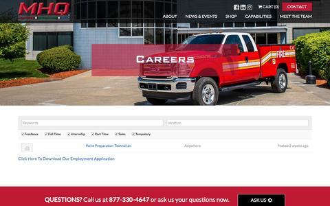 Screenshot of Jobs Page mhq.com - Careers   MHQ   MHQ - captured May 26, 2017