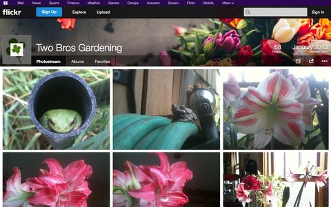 Screenshot of Flickr Page flickr.com - Flickr: Two Bros Gardening's Photostream - captured Oct. 26, 2014