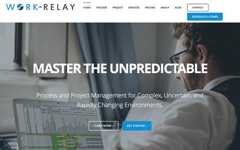 Screenshot of Home Page work-relay.com - Native Salesforce Project & Process Management App | Work-Relay - captured Jan. 18, 2016