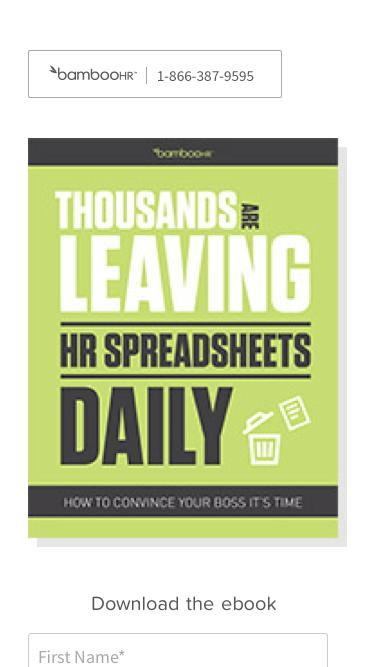 Employee Database Solutions, HR Software | BambooHR Software