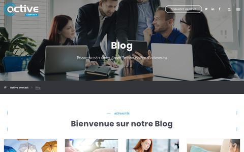 Screenshot of Blog activecontact.fr - Blog d'Active Contact, agence de télémarketing en Tunisie - captured Dec. 1, 2018