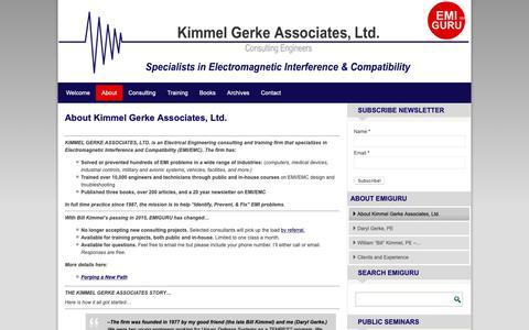 Screenshot of About Page emiguru.com - About Kimmel Gerke Associates, Ltd. – EMI GURU - captured Dec. 20, 2018