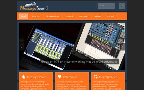 Screenshot of Home Page messagesound.nl - MessageSound - captured Oct. 1, 2014