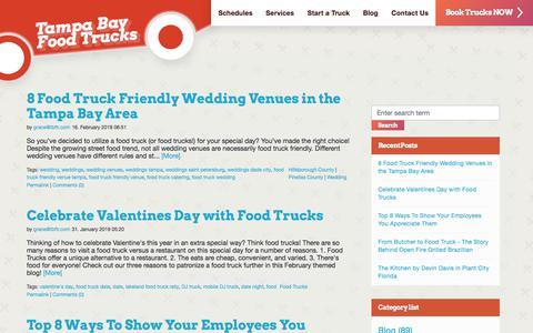 Screenshot of Blog tampabayfoodtruckrally.com - Tampa Bay Food Trucks Blog | Tampa Bay Food Trucks Blog - captured July 23, 2019