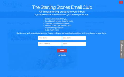 Screenshot of Blog sterlingresorts.com - Gulf Coast Vacation Rental Blog ~ Sterling Resorts - captured Oct. 29, 2017