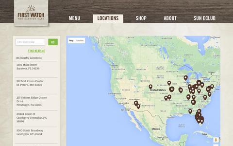 Screenshot of Locations Page firstwatch.com - Find a First Watch | First Watch - captured Jan. 24, 2016