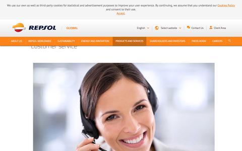 Screenshot of Support Page repsol.com - Customer service - repsol.energy - captured April 9, 2018