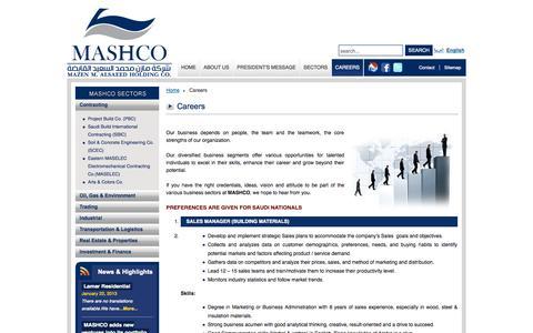 Screenshot of Jobs Page mashcogroup.com - Careers - captured Oct. 3, 2014