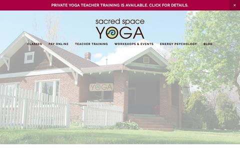 Screenshot of Home Page ssyoga.com - Sacred Space Yoga - captured Nov. 18, 2016