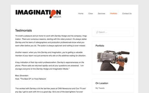 Screenshot of Testimonials Page imaginationmediallc.com - Testimonials   Imagination Media LLC - captured Jan. 8, 2016