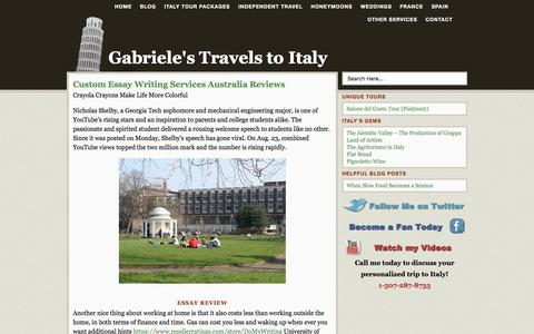 Screenshot of Blog travelingtoitaly.com - Blog - Gabriele's Travels to Italy - Gabriele's Travels to Italy - captured May 20, 2018