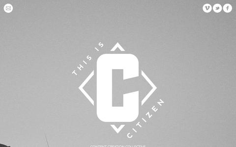 Screenshot of Home Page thisiscitizen.co - THIS IS CITIZEN | CONTENT CREATION COLLECTIVE - captured Oct. 9, 2014