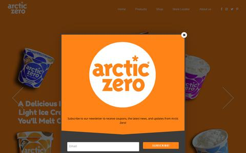 Screenshot of Home Page arcticzero.com - Home – ARCTIC ZERO - captured Aug. 5, 2018