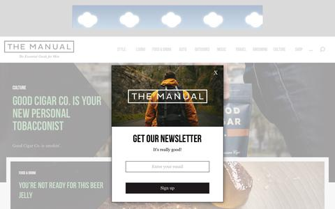Screenshot of Home Page themanual.com - The Manual - The Essential Guide for Men - captured June 15, 2017