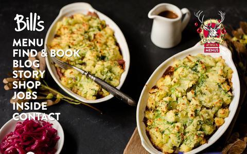 Screenshot of Home Page bills-website.co.uk - Bill's Restaurant - Breakfast to Bedtime - captured Oct. 19, 2015