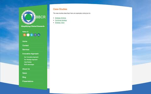 Screenshot of Case Studies Page bostonclinicalresearch.com - Case Studies   Boston Biotech Clinical Research - Clinical Strategy and Trial Design - captured Oct. 5, 2014