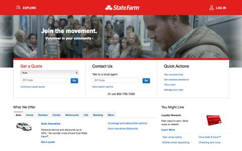 Get Insurance Quotes – Save on Auto Insurance – State Farm™
