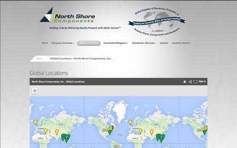 Screenshot of Locations Page nscomponents.com - Global Locations - North Shore Components, Inc. - captured Oct. 26, 2014