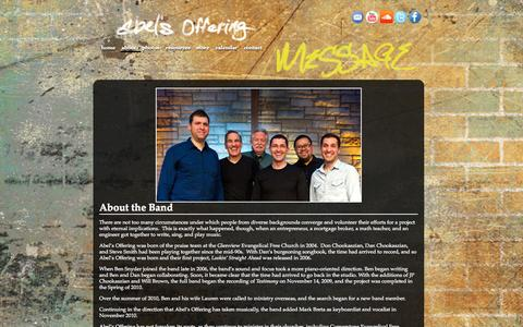 Screenshot of About Page abelsoffering.com - About «  Abel's Offering - captured Sept. 30, 2014