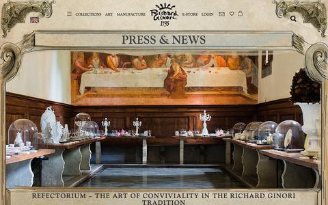 Screenshot of Blog richardginori1735.com - Richard Ginori 1735 - captured June 14, 2017