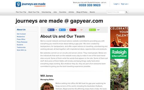 Journeys are made @ gapyear.com - About the Team - Gap Year