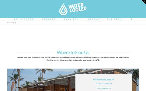 Screenshot of Contact Page watercooleduae.com - Contact - - captured Nov. 10, 2017