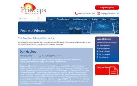 Screenshot of Team Page princeps.co.uk - People at Princeps - Princeps Electronics - captured Oct. 3, 2014