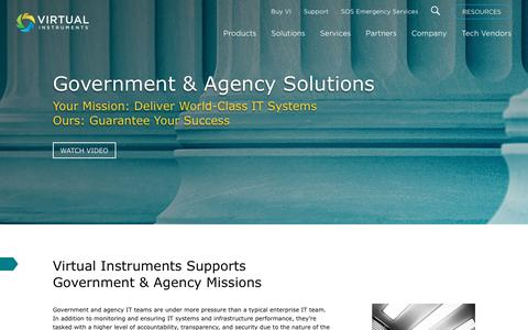 Government Solutions - Virtual Instruments