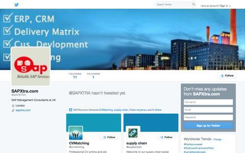 Screenshot of Twitter Page twitter.com - SAPXtra.com (@SAPXTRA) | Twitter - captured Oct. 23, 2014
