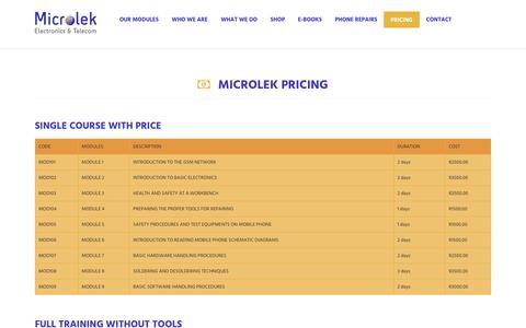 Screenshot of Pricing Page microlek.co.za - Microlek - captured May 26, 2017