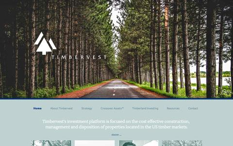 Screenshot of Home Page timbervest.net - Home - Timbervest - captured Aug. 16, 2015