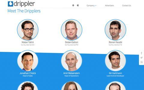 Screenshot of Team Page drippler.com - Team | Drippler - captured Dec. 17, 2014
