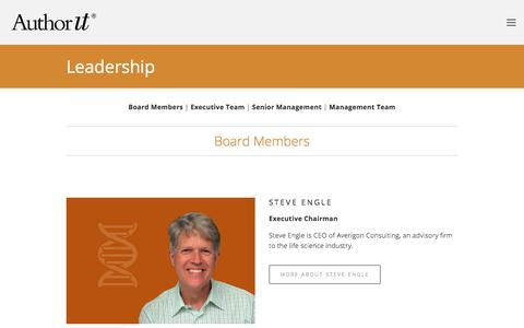 Screenshot of Team Page author-it.com - Leadership — Author-It - captured Sept. 22, 2018
