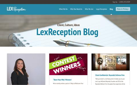 Screenshot of Blog lexreception.com - LexReception - Live Virtual Receptionist and 24/7 Answering Service - captured July 19, 2018