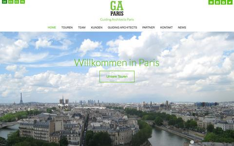 Screenshot of Home Page ga-paris.fr - Paris France Architectural Tours, Paris Urban Planning Tours, Customized guided Architectural Visits in France - Guiding Architects -GA PARIS GA Paris - captured July 17, 2015